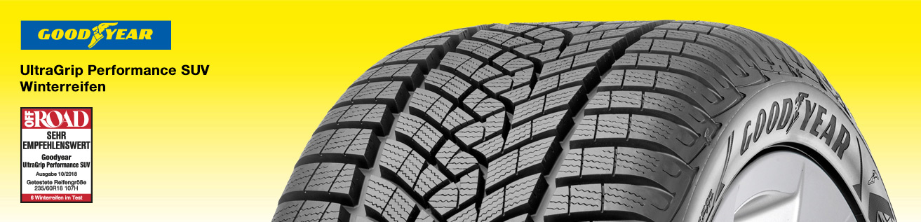 Testergebnis Goodyear UltraGrip Performance SUV